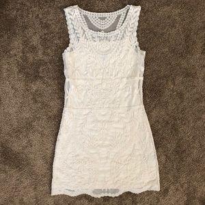 Express Cream Lace Dress Sz XS